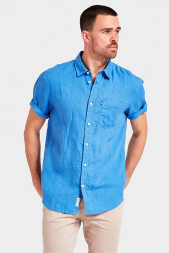 Hampton S/S Linen Shirt - Royal Blue