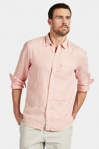 Hampton Linen Shirt - Peach