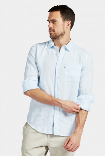 Hampton Linen Shirt - Sky Blue