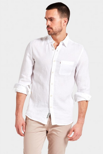 Hampton Linen Shirt - White