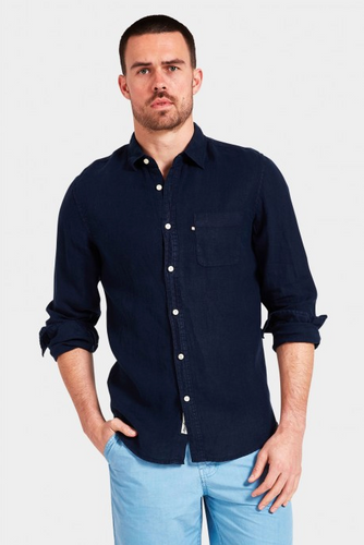 Hampton Linen Shirt - Navy
