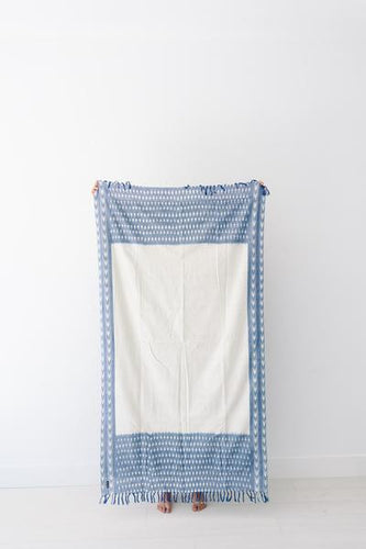 Sabbia Towel - Blue Ikat