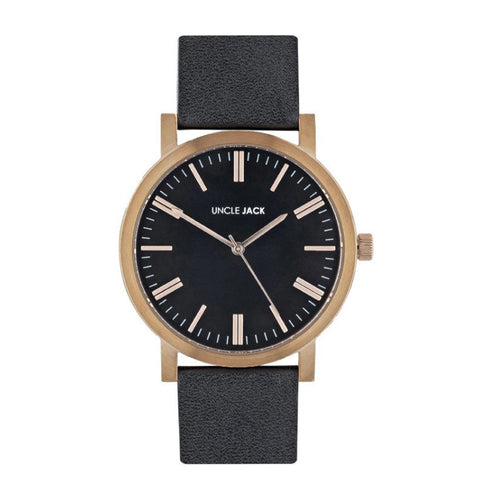 JACK - Black Leather/Rose Gold/Black