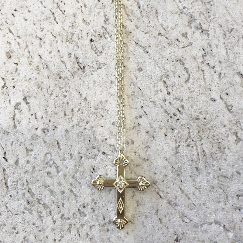 Like A Prayer Relic Necklace - Gold