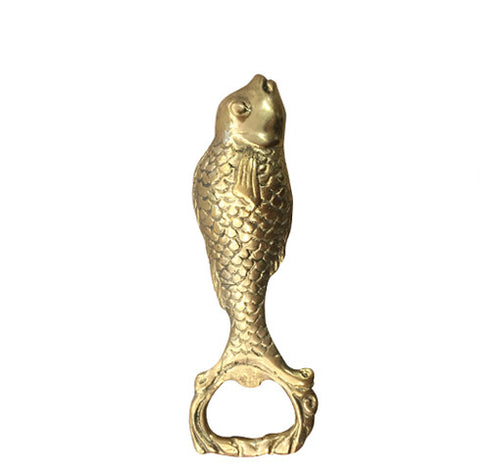 Pisces Bottle Opener - Brass
