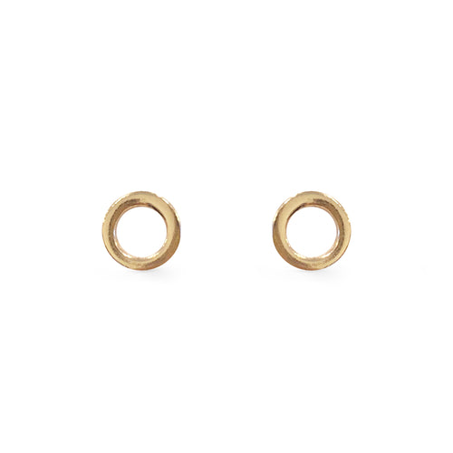 Halo Studs - Rose Gold