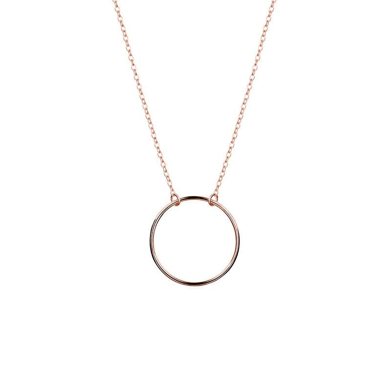 Hoop Necklace - Rose Gold