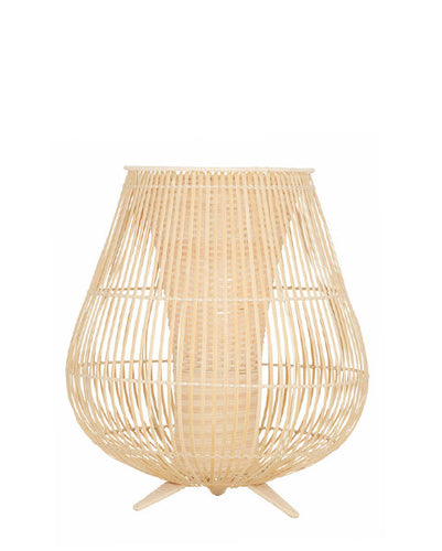 Hurricane Lamp - Rattan