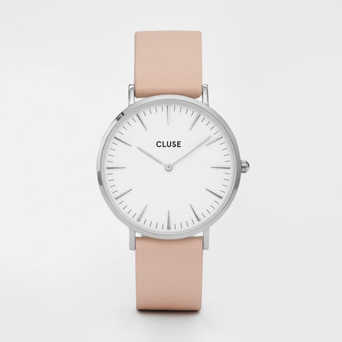 LA BOHEME - Nude Leather/Silver/White