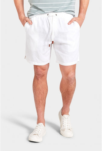 Riviera Linen Short - White