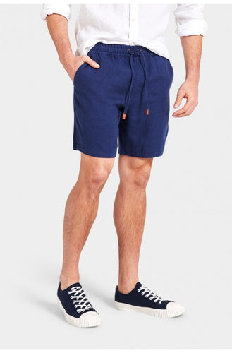 Riviera Linen Short - Royal Blue