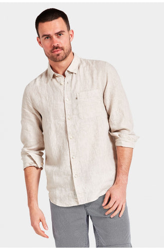 Hampton Linen Shirt - Oatmeal