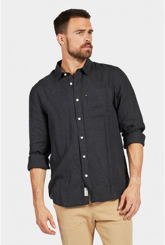 Hampton Linen Shirt - Black