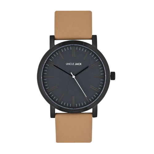 JACK - Tan Leather/Black/Charcoal