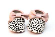 Baby Moccasins - Pink/Leopard Leather