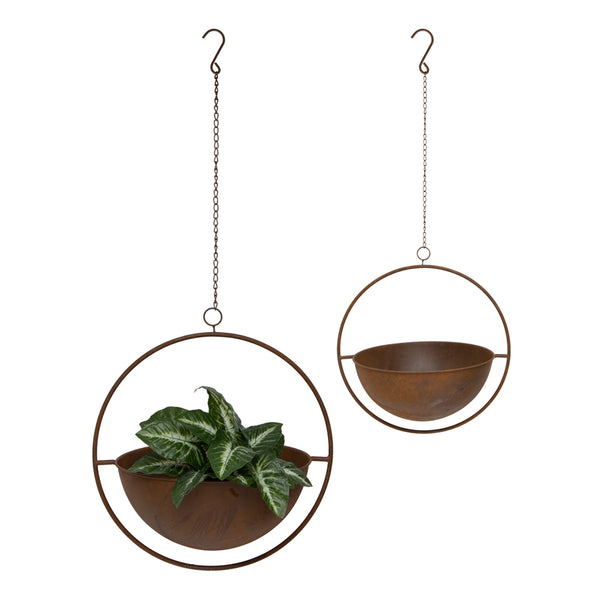 Nested Floating Round Planter - Set of 2