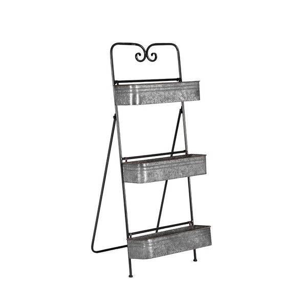 Galvanised Ladder Planter / Utility Shelves