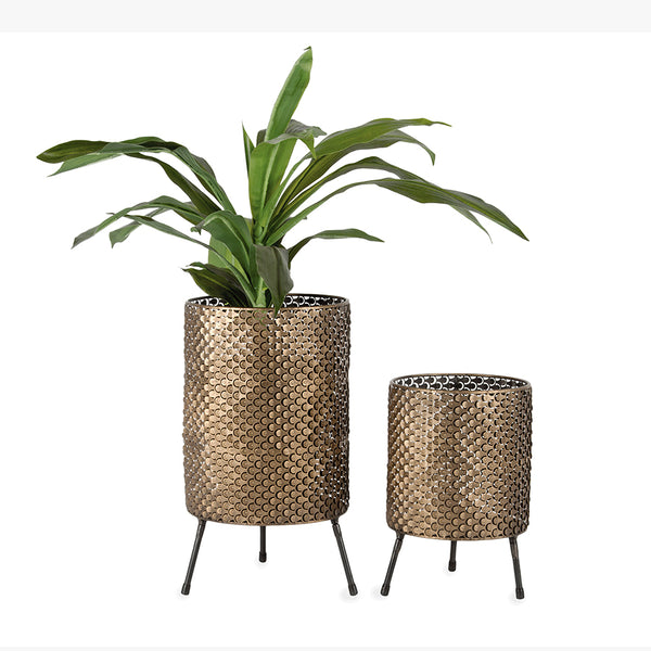 Nested Aura Fanned Planters - Set of 2