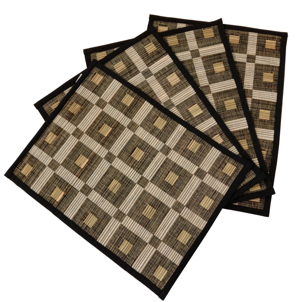 Set of 4 Squares Cotton Table Mats