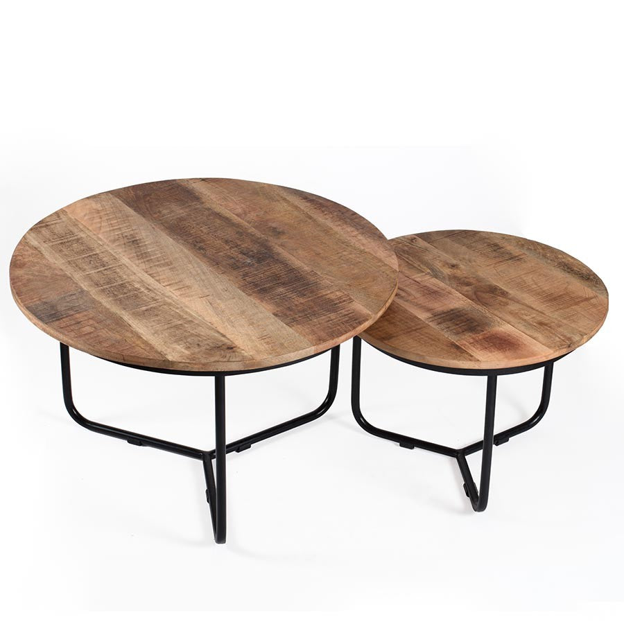 Casa Round Coffee Tables - Set of 2