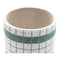 Green Bricka Round Pot Planter with Legs - Set of 3