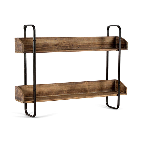 Industro-Chic Hanging Wall Shelves