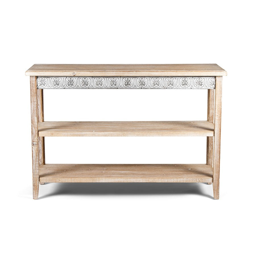 Chateau Console with Shelves