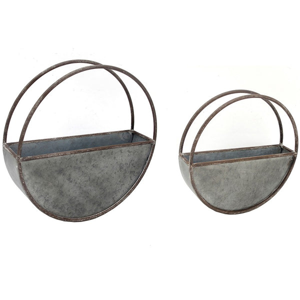 Nested Floating Elemental Wall Planter - Set of 2