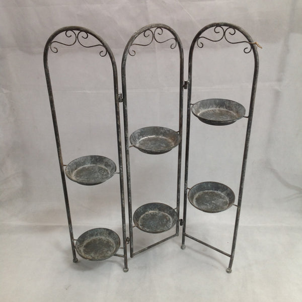 Arched Baroque Pot Plant Stand Screen
