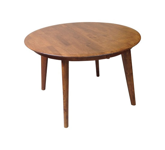 Belmont Butterfly Extension Round Dining Table Teak