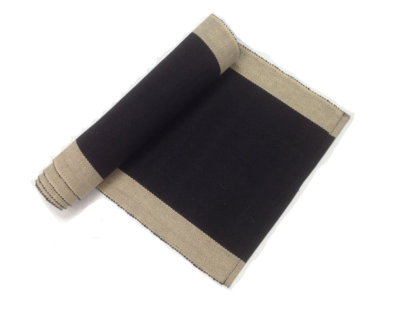 Black & Cream Table Runner