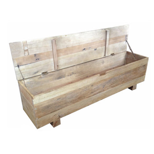 Oak Block Bench Trunk with Lid