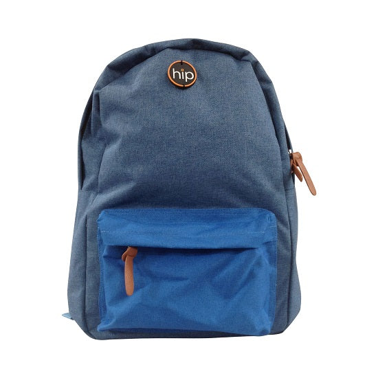 Back Pack Canvas Front Pocket DENIM BLUE
