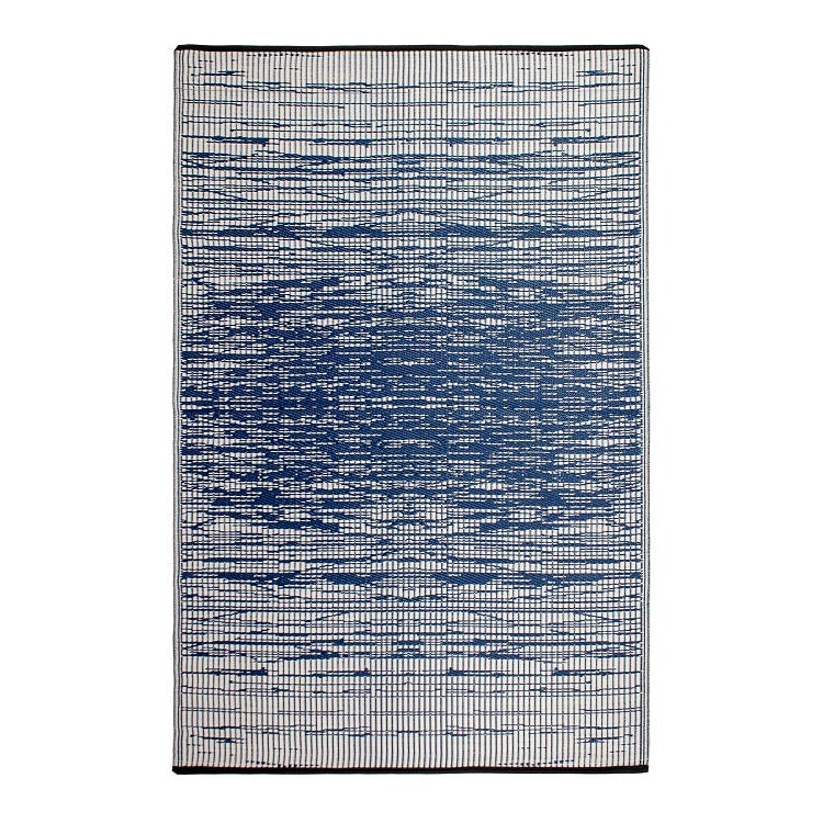 Brooklyn Blue Outdoor Recycled Plastic Rug