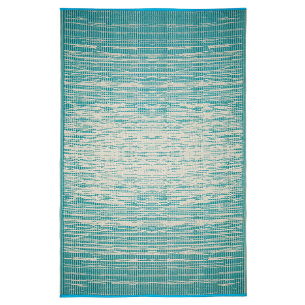 Brooklyn Teal Outdoor Recycled Plastic Rug