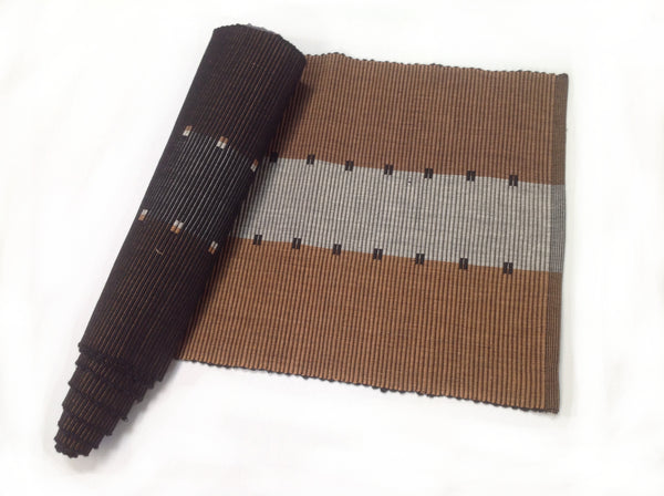 Brown Cotton Table Runner