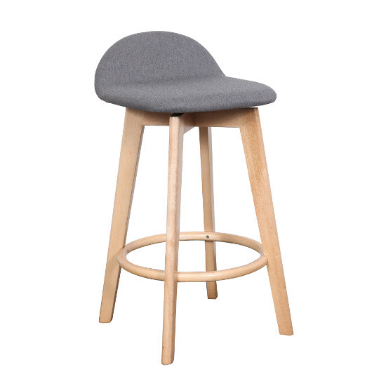 Calay Counter Barstool - Natural (Grey Fabric)
