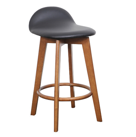Calay Counter Barstool - Teak (BlackPU)