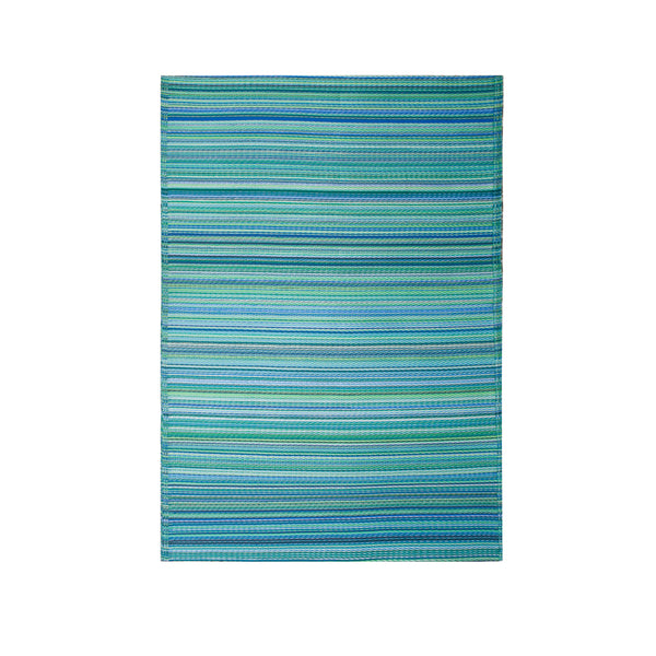 Cancun Aqua Recycled Plastic Rug