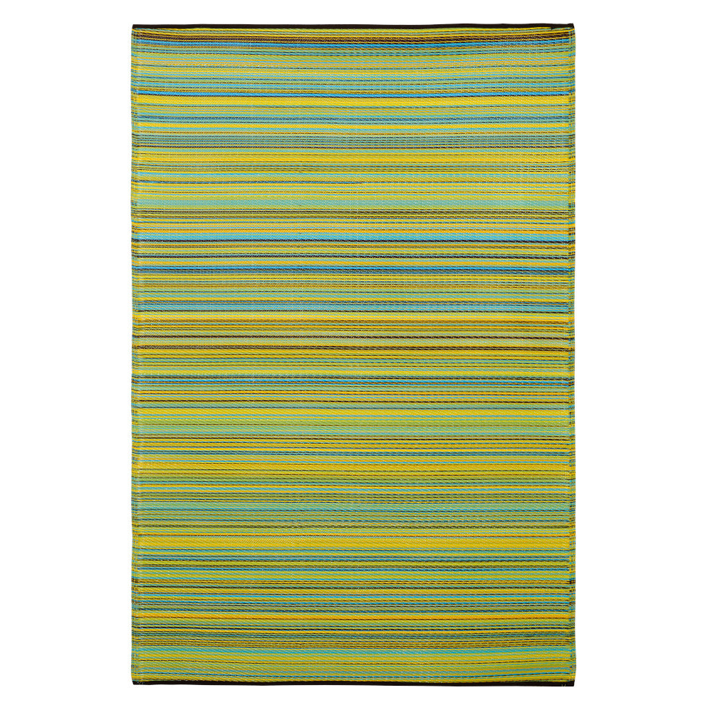 Cancun Granny Smith Green Recycled Plastic Rug