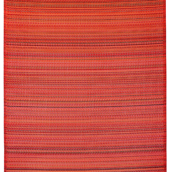 Cancun Deep Red Recycled Plastic Rug