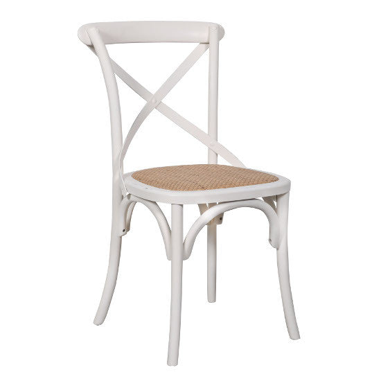 Crossback Oak Chair (White)