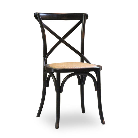 Bohemio Furniture Online Store - Crossback Oak Dining Chair (Black)
