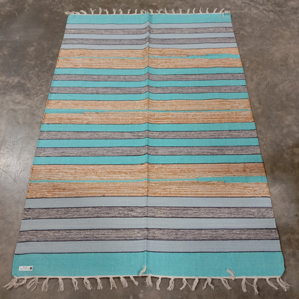 Cotton Cutshuttle Rug 120 x 180 cm - Blues