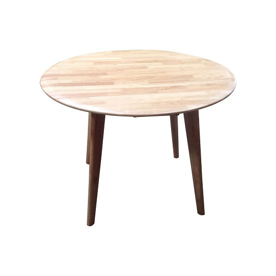 Drop-Side Round Table (Natural)