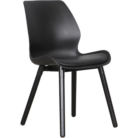 Euro Dining Chair (Black Black)
