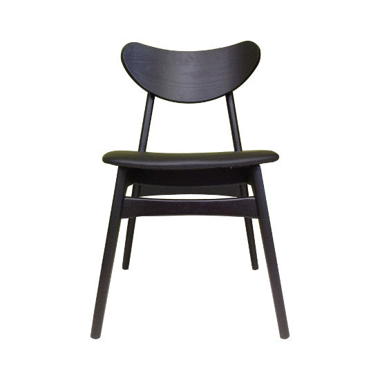 Finn Dining Chair - Black (Black Vinyl)