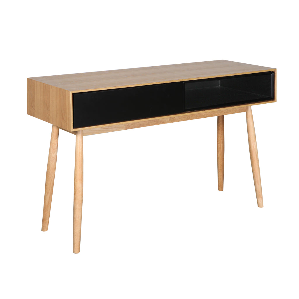 Fin Console Table (Natural Finish)