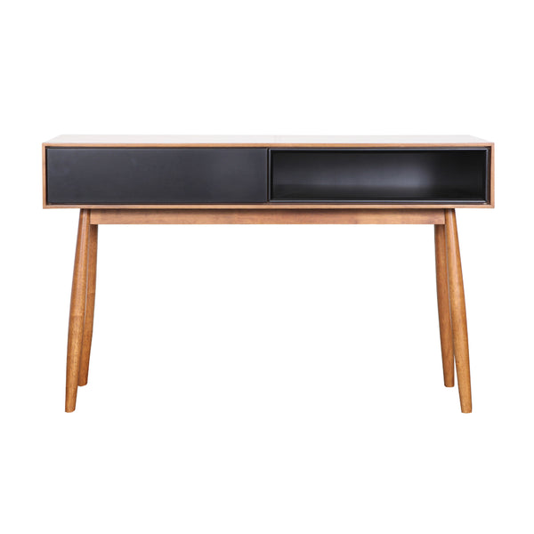 Fin Console Table (Teak Finish)