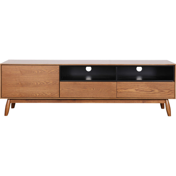 Fin TV Unit 170 cm (Teak Finish)